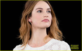 lily james wore a boob flattener for downton abbey photo lily james aol build imdb asks events nyc 473562189