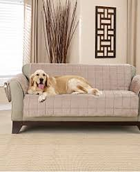 sofa pet covers. Sure Fit Deep Pile Polyester Velvet With Non-Skid Paw Print Pet Furniture Slipcover Collection Sofa Covers