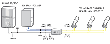 luxor cube and relay wiring diagrams fx luminaire b low voltage incandescent 12v transformer
