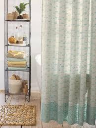 indian block print shower curtain