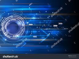 Arrow Of Light Striping New Program Vector Abstract Technology Background Eyeball Circuit Stock