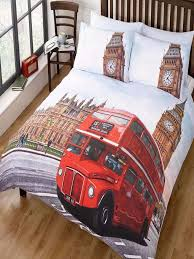 london bus double duvet cover set