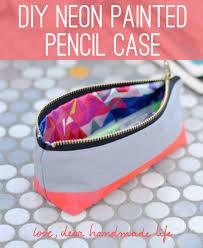 9 neon painted pencil case