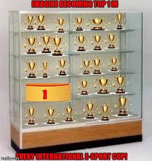 empty trophy case flip
