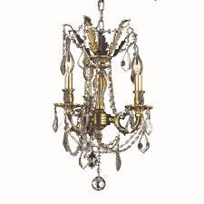 worldwide lighting windsor 3 light antique bronze chandelier with golden teak crystal