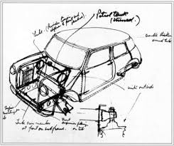 how the mini cooper works howstuffworks the concept drawing of the first mini cooper