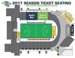 Seating Chart Chesapeake Bayhawks Mll Team