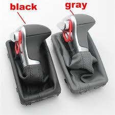 <b>car Leather Chrome GEAR</b> Shift Knob shift knobs FOR AUDI A6 A7 ...