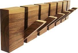 Wooden Coat Hook Rack Wooden coat rack 100 hooks coat hanger wood wall art wooden 17