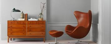jacobsen furniture. Brown Egg Chair Cushion And A Drawer Jacobsen Furniture O