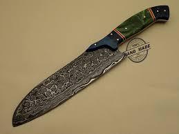 Damascus Kitchen Knife Custom Handmade Damascus Steel KitchenCustom Kitchen Knives