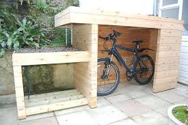 outdoor bike storage ideas awesome design of the bike storage outdoor with brown wooden color materials