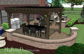 patio designs with fireplace. Pergola With Fireplace Traditional Patio Design Seating Wall And 4 Designs
