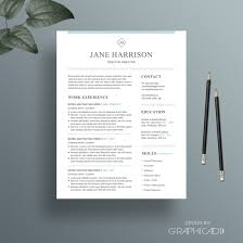 Professional Resume Template Cover Letter For Word Etsy