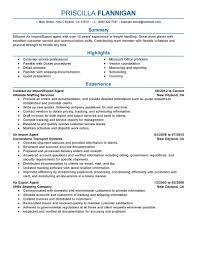 Best Air Import Export Agent Resume Example Livecareer