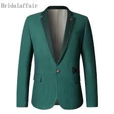 Bridalaffair 2018 High Quality Casual Blazer Men Jacket