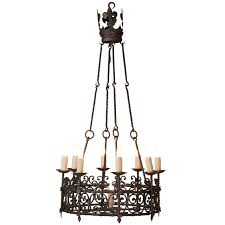 vintage country french wrought iron chandelier for
