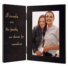 Malden International Designs Friends are the Family We Choose for Ourselves  Hinged Picture Frame, 4x6