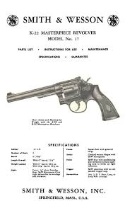 smith wesson k 22 masterpiece revolver