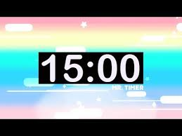 15 Min Timer 15 Minute Countdown Timer With Music For Kids