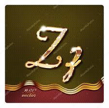 depositphotos stock illustration gold cursive letters z