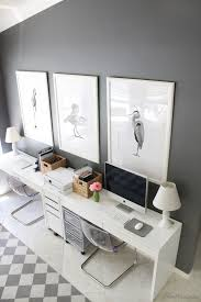 white home office desks. gray and white ikea home office for two desks a