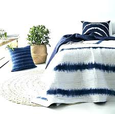 blue tie dye bedding comforter set bedspread quilt and white sheets light crib sheet