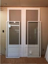 traditional wood storm screen doors