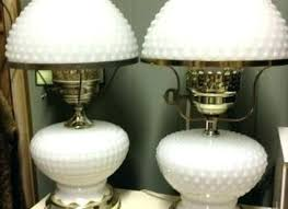 antique milk glass lamp hobnail milk glass lamp vintage milk glass ribbed pattern table lamp shades