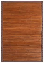 5x8 anji mountain bamboo amb0031 modern bordered brown area rug approx 5 x 8