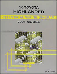 toyota highlander wiring diagram manual original