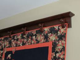 Richard T. Hyers Woodworking: Wall-Mounted Quilt Hanger & ... Cherry Quilt hanger with Clamps made for the quilt Adamdwight.com