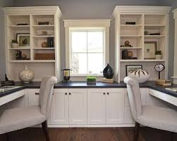 office color ideas. Home Office - Traditional Built-in Desk Idea In Minneapolis With Gray Walls Color Ideas