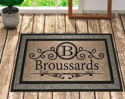Image Housewarming Custom Doormat Personalized Doormat Door Mat Personalized Door Mat Welcome Doormat Custom Welcome Mat Front Door Mat Family Door Mat Etsy Customized Welcome Etsy