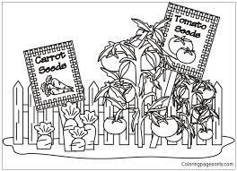 Coloring crew coloring book mandalas mandala vegetable garden. Vegetable Garden Coloring Pages Nature Seasons Coloring Pages Free Printable Coloring Pages Online