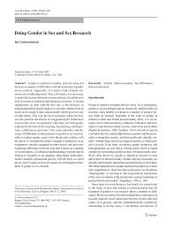doing gender in sex and sex research pdf available