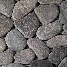 Solistone River Rock Pebbles 10-Pack River Gray Mosaic Floor Tile (Common:  12