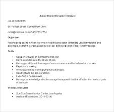Bams Resume Format Doctor Resume Templates Free Samples Examples