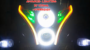 Pulsar 220f Headlight With Indicator Angel Eyes Drl By