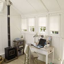 convert shed to office. mancave loses out as women make the sheshed their own convert shed to office g
