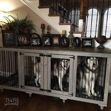 Designer Crates And Cages Stunning Huskies Dog Crate Furniture Dog Rooms Diy Dog