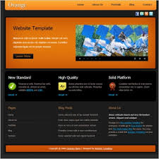Free Html Website Templates Impressive Orange Free Website Templates In Css Js Format For Free