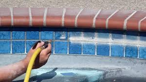 cleaning pool tile with soda blasting diy pool tile cleaning or hire a professional above all care llc
