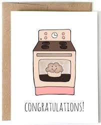Congratulations On Your New Baby Card Bun In Oven Congrats Card