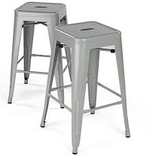 metal counter height stools. Modern Metal Counter Stools With Silver Paint Height H