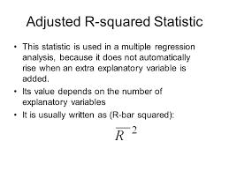 adjusted r squared statistic