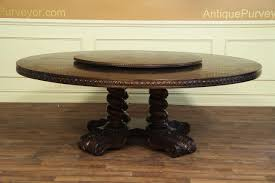 large round dining table large round walnut dining table rustic casual finish
