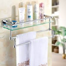 all copper bathroom glass shelf toilet mirror with shelves towel bar and before cosmetic rack on