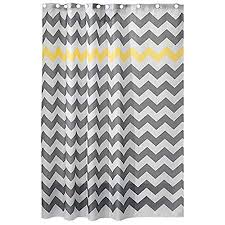 grey chevron shower curtains. Perfect Grey InterDesign Chevron Shower Curtain For The Bathroom Fabric Curtains  Made Of Polyester Inside Grey Curtains R
