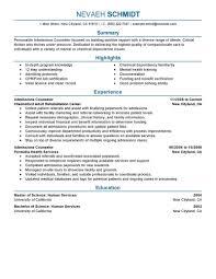 School Counselor Resume Sample School Counselor Resume Resumes Guidance Example Sample Objective 61
